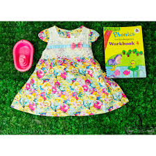 gawn gaun dress flower bunga children kids toddlers girls