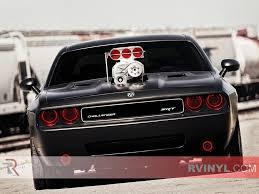 Dodge Challenger Lights - rtint universal smoked headlight wraps film