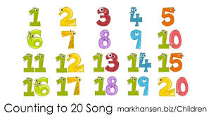 counting songs 1 20 for children numbers to song kids kindergarten