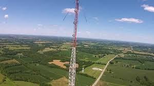 radio tower drone climbs radio tower youtube