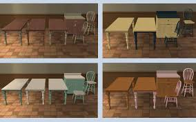 mod the sims recolors of base game table chair and barstool