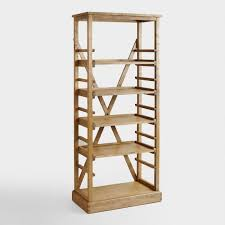 Small Bookcase On Wheels Bookshelves Bookcases U0026 Ladder Bookshelves World Market