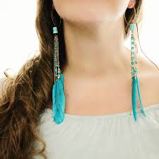 feather earring earrings to rock the holidays and new year