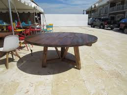 buy a custom made salvaged wood beam round dining table made to