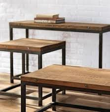 restoration hardware sofa table iron wood console table foter