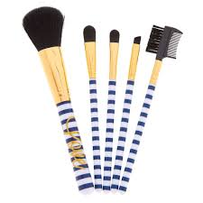 navy u0026 white makeup brush set claire u0027s