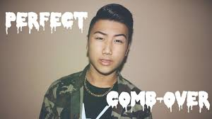 asian combover comb over fade asian men s hair tutorial perfect comb over youtube