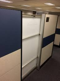 used steelcase answer cubicles w sliding door