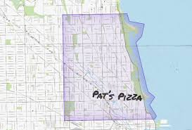 Chicago By Zip Code Map by Chicago Pizza Delivery Map Piece Salernos Pequods And More
