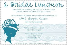 bridal invitation wording bridal shower luncheon invitation wording kawaiitheo