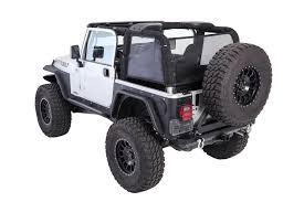 jeep wrangler side smittybilt 95601 cloak mesh sides u0026 rear for 97 06 jeep wrangler