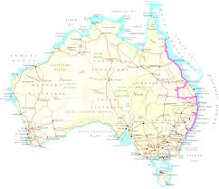 Map East Coast Enlarged Map Of Australia Showing The Airports Roads Rail In Map