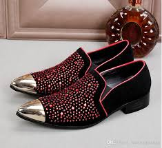wedding shoes europe promotion new set auger men velvet loafers party wedding shoes