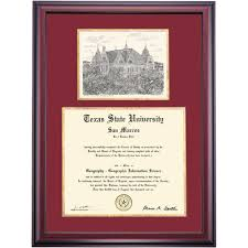 of alabama diploma frame state school color collegiate pen and ink diploma