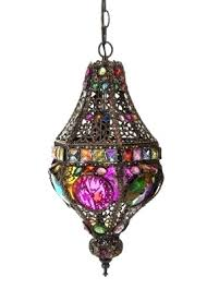 Moroccan Crystal Chandelier Bohemian Hanging Light With Moroccan Lamp Foter And 12 Diy
