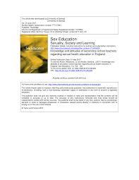 knowledge and attitudes of secondary teachers regarding