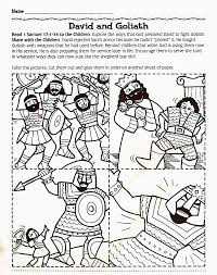 goliath and david bible coloring page to print bible coloring