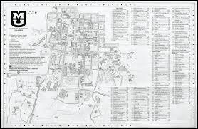 Mizzou Map University Of Missouri Columbia Campus Map 1999