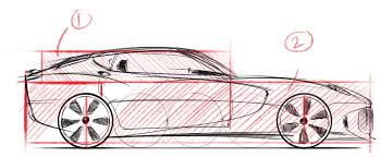 proportions in drawing and designing cars