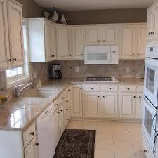 Oak Cabinets To White Enamel With Glaze Painterati - Enamel kitchen cabinets