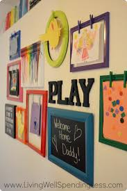 playroom gallery wall living well spending less