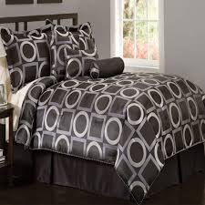 Tan And Black Comforter Sets Geo Grid Black Comforter Set With Bonus Pillows Contemporary And