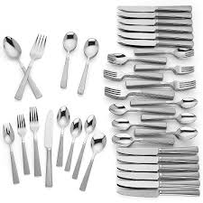 babson 110 pc stainless flatware set large sets