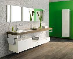 bathroom simple elegant floating vanity lime green accent