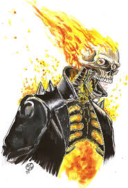 ghost rider watercolor sketch by wedmer on deviantart