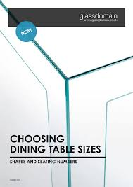 Dining Table Sizes Glass Table Buying Guides Glassdomain