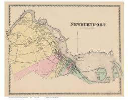 Ma Map Newburyport Massachusetts 1872 Old Town Map Reprint Essex Co