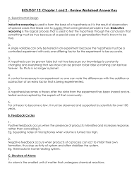biology 12 chapter 1 and 2 review worksheet answer key
