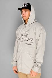 douchebags where is my douchebag zip hoodie grey surfhouse