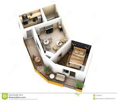 furniture clipart for floor plans 3d floor plan stock illustration image of floor built 37626555
