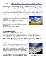 3 kinds of clouds wikihow how to forecast the weather using clouds