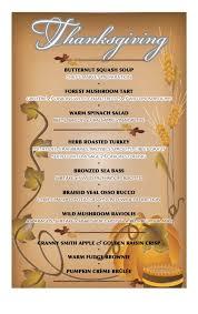 specials thanksgiving dinner at grasings the menu