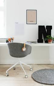 White Wood Desk Chair With Wheels Best 25 Office Chair Without Wheels Ideas On Pinterest Office