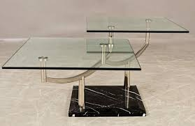 stone and glass coffee table two tiered glass coffee table with a chrome frame stone base for