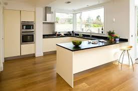 kitchen elegant u shape black and white kitchen decoration using