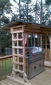 build a grill gazebo for your backyard backyard pallets and