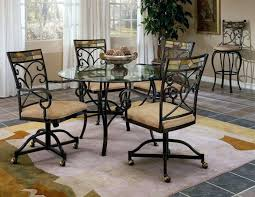 dinette table and chairs with casters dining room sets with chairs on casters dining room chairs on wheels
