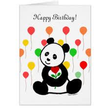 cartoon panda greeting cards zazzle