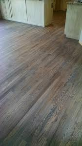 Laminate Floor Refinishing Red Oak Floor With Custom Gray Stain Hardwood Floors