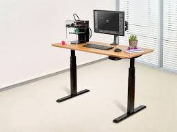 Sit Stand Desk Ikea by Sit Stand Dual Motor Height Adjustable Desk Frame Electric Black