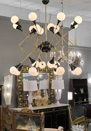 Stilnovo Chandelier Stilnovo Style Murano Glass And Brass Chandelier Jean Marc Fray