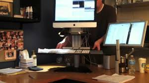 standing desk mymac kangaroo from ergo desktop youtube