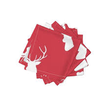 christmas red deer wallpaper by mrshervi roostery home decor