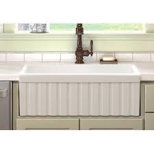 Fireclay Kitchen Sinks by Ronbow Essentials Keystone 29 53 X 19 77