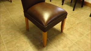 amish upholstered parsons dining room chair youtube