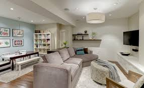 Ceiling Lights For Basement Family Room Contemporary With Recessed - Family room in basement